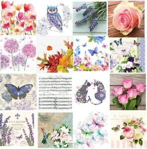 Pretty Lavender  3 Ply  Paper Napkins Decoupage Decopatch