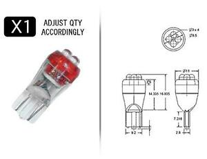 RED-4-Point-194-Style-LED-Replacement-Instrument-Cluster-Gauge-Bulb