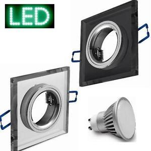 Einbaustrahler-Einbauspot-Glas-klar-anthrazit-LED-3W-9W-Halogen-Design-GU10