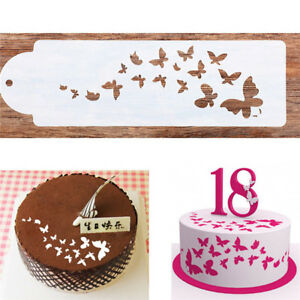 Butterfly Cake Stencil Template Fondant Cake Decorating Tools One Ebay