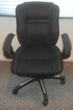 Lot 10 True Seating Black Mesh Fabric Conference Office Swivel Adjustable Chairs