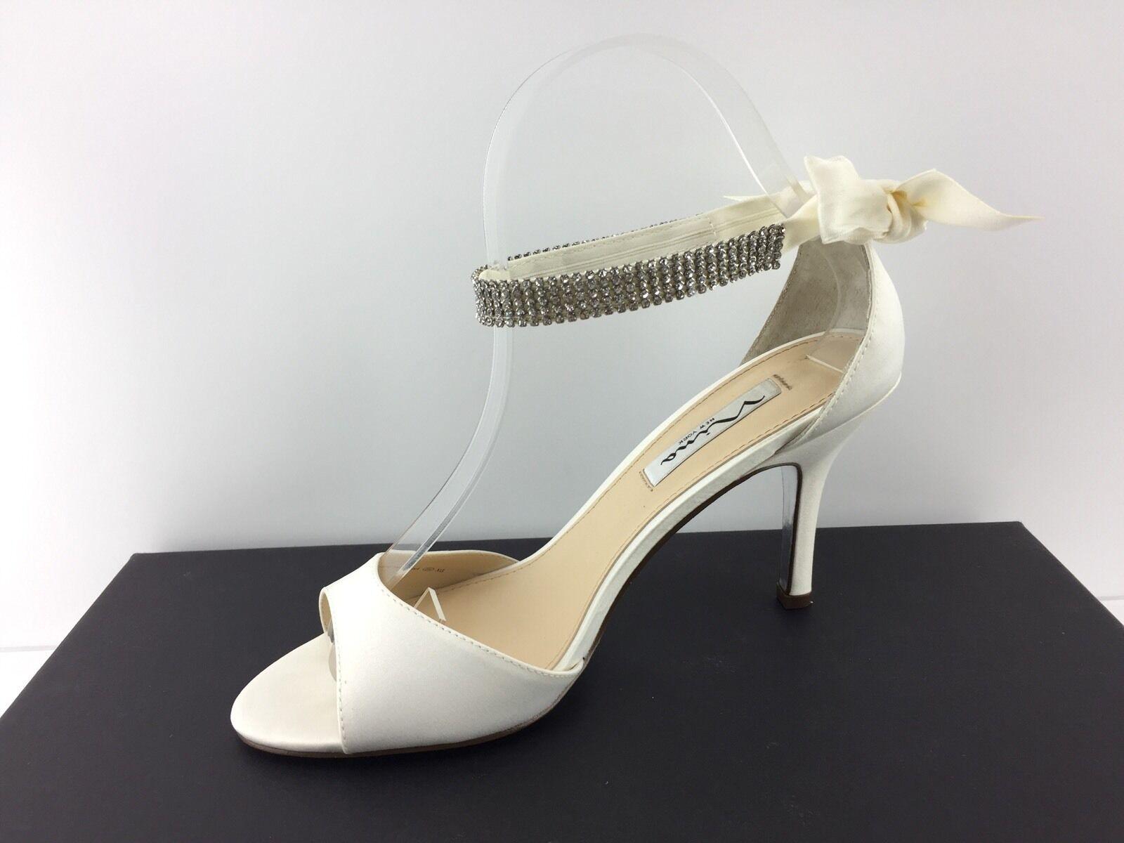 Nina Vinnie Damenschuhe Ivory Heels Open Toe Toe Toe Heels 7 M aad94d