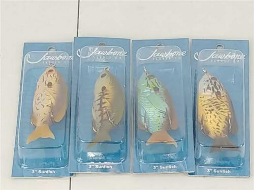 "Jawbone Tackle Company 3/"" Sunfish Double Hook Fishing Lure Lot Assortment of 4"