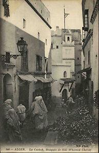 Algier-Alger-Algerien-al-Dschaz-ir-AK-1910-Lla-casbah-Kasbah-Mosquee-Moschee