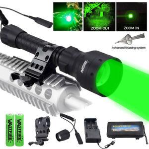 500 Yards Zoom T50 Green LED Flashlight Predator Varmint Hog Fox Hunting Light