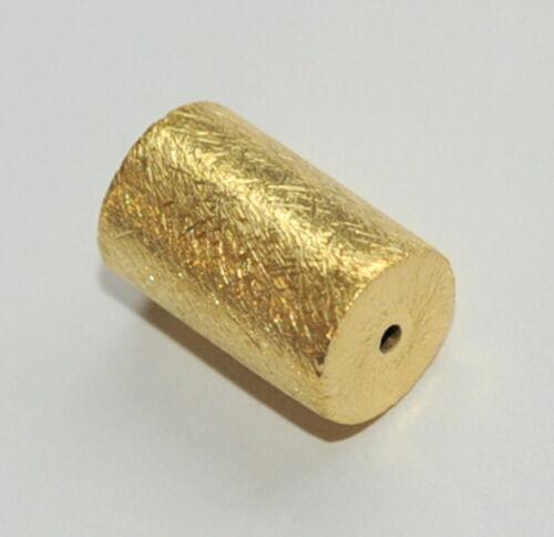 40006/_7,5x4,5 mm cilindro de dorado 925-er plata cepillado