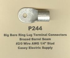 5 Bare Ring Lug Brazed Barrel Seam Terminal Connector 20 Wire 14 Stud Molex