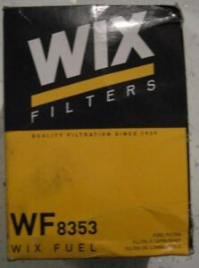 NEW Genuine WIX Replacement Fuel Filter WF8353