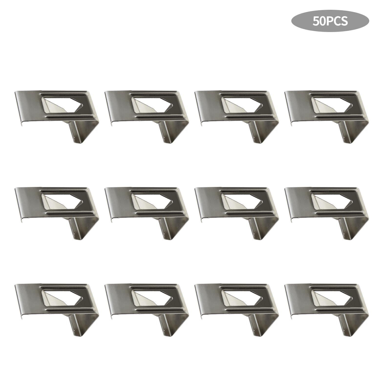 50 Pcs Silver Photography Photo Frame Metal Spring Turn Clip Hanger Hooks