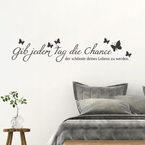 """Mural Citation /""""donne chaque.../"""" sticker chance jour Autocollant"""
