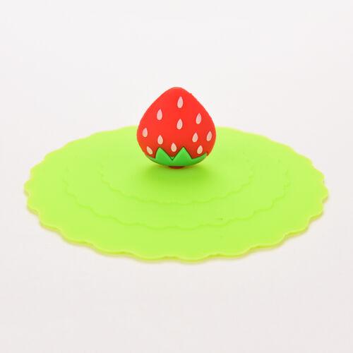 Anti-poussière Verre Cup Cover mug aspiration joint couvercle silicone Cartoon étanche spoonni