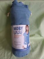 Brand Moby Wrap The Baby Carrier Babies Up To 35 Pounds One Size Blue