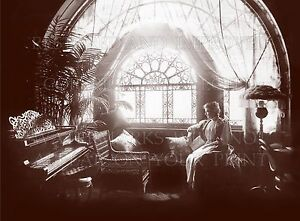 Elegant Victorian parlor window piano, 1888 photo, CHOICE 5x7 or request digital