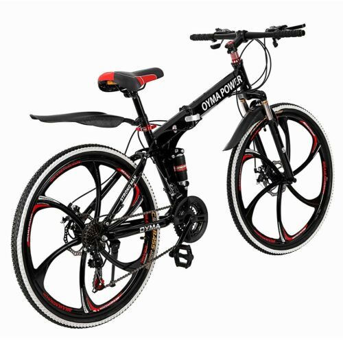 Outroad Mountain Bike 21 Speed 26 inch Folding Bike Double Disc Brake Bicycles
