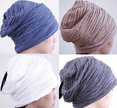 1 Pack Men's Winter Beanie Beret Hat Plicate Baggy Slouchy Oversized Cap