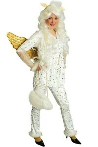 Engel Kostum Weiss Damen Christkind Weihnachten Engelskostum Karneval