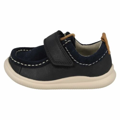 INFANT BOYS CLARKS HOOK /& LOOP CASUAL LEATHER BABY SUMMER SHOES CLOUD SEA SIZE