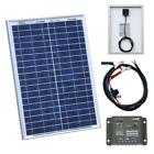 Solar Panel Battery Charging Kit Caravan Camper Van Boat Charger 20w 12v