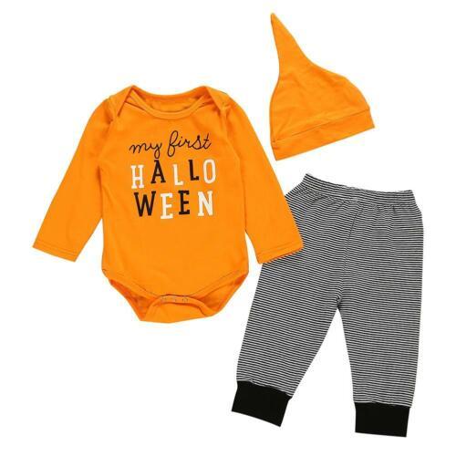 Newborn Toddler Baby Boy Girl Romper Bodysuit Jumpsuit Pants Outfits Clothes Set