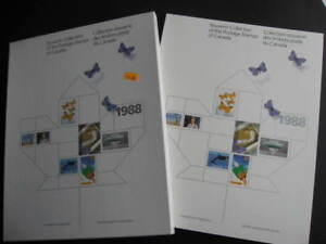 Canada-Post-official-1988-annual-souvenir-collection-stamps-are-in-mounts