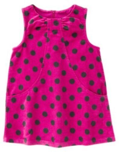 GYMBOREE MERRY /& BRIGHT DARK PINK w// POLKA DOTS JUMPER DRESS 6 12 18 2T 3T 5 NWT