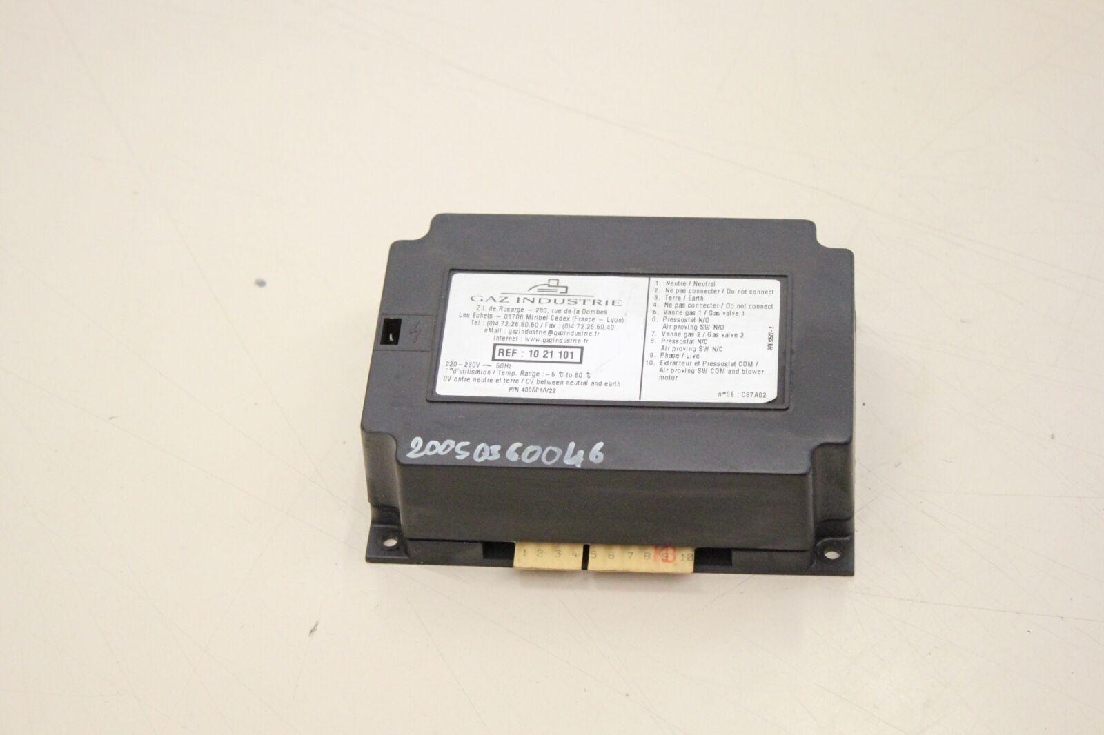 GAZ INDUSTRIE C87A02 400601/V22 1021101 Steuerung Modul 20050360046