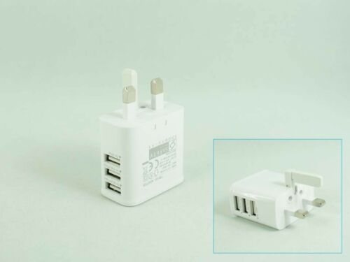 3A DC5.3V 110V-240V 3 Port USB Power Charger Adapter UK Plug