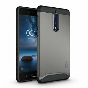 official photos e0c6a 5ec5f Details about TUDIA Slim-Fit MERGE Dual Layer Protective Cover Case for  Nokia 8