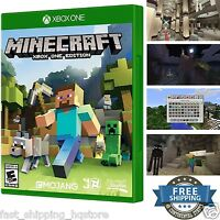 Minecraft Xbox One Edition Video Games Console Kids Entertainment Fun Gift Game
