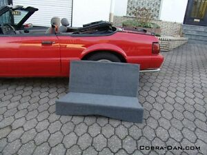Details About Mustang Convertible Rear Seat Delete Kit 1983 1993 Black Or Grey Fit Gt Lx