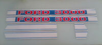 Ford 3000 Tractor Hood Decals