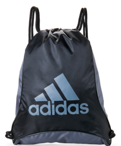 fdec0e8afb45 Details about adidas Bolt II Sackpack, Black and Grey