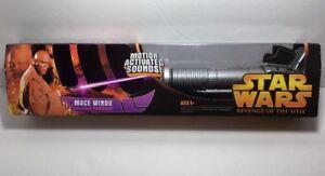 Star Wars Revenge Of The Sith Electronic Mace Windu Lightsaber New Rots Rare 653569013075 Ebay