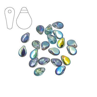M30//3 Checa Preciosa PIP ™ cuentas 7mm Cristal Azul Arco Iris Paquete de 20