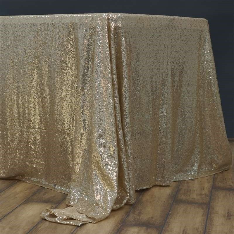 90 x 156  rectangular Sequin Sparkly Tablecloth Table Cover 4 CouleurS WEDDING
