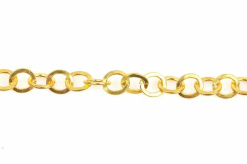 Bright Gold ROUND Link Chain links are 8mm  FCH0340 3 feet 1 yard