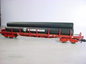 Fleischmann-N-826802-Set-un-Carro-a-Stanti-Rs-FS-con-Carico-Nuovo-Originale