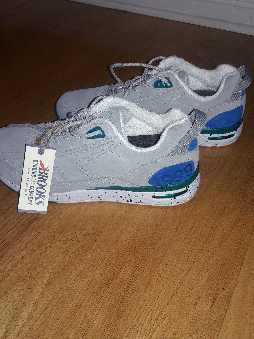 Brooks 1999 Fly Casual Shoes, Gray/Teal Size 10M