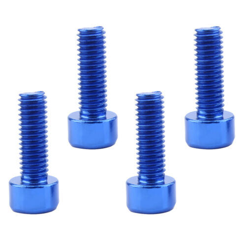 8 Pieces Bike Water Bottle Cage Holder Bolts Screws Durable Bicycle Blue