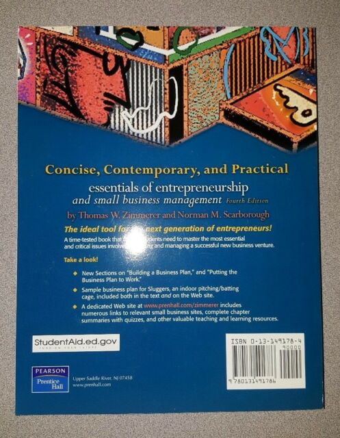 Essentials Of Entrepreneurship And Small Business Management By Thomas W Zimmerer And Norman M Scarborough 2004 Paperback Revised