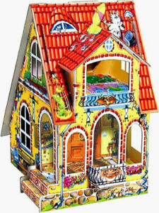 """Puzzle toy model kits puzzle /"""" House by the wall/"""" 9 minifigures gift for kids"""