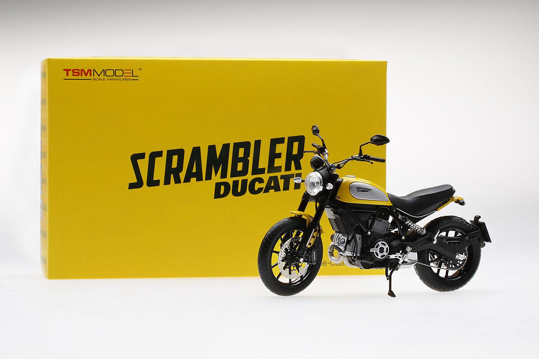 TRUE SCALE MINIATURES 1 12 MOTO DUCATI SCRAMBLER CLASSIC 803cc orange SUNSHINE