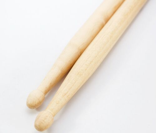 Drumsticks Kinder Schlagzeugstöcke Trommelstöcke Sticks Ahorn Kopf Holz Stöcke