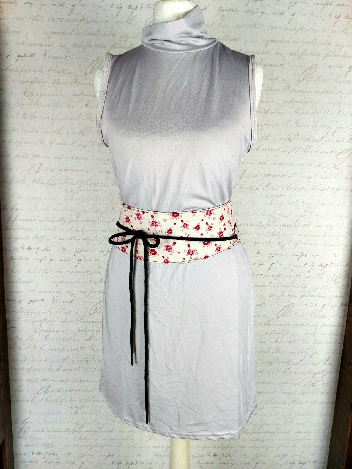 Mini Dress Roll Neck Dress Short Light Grey Taupe Size S Basic Figure stresses