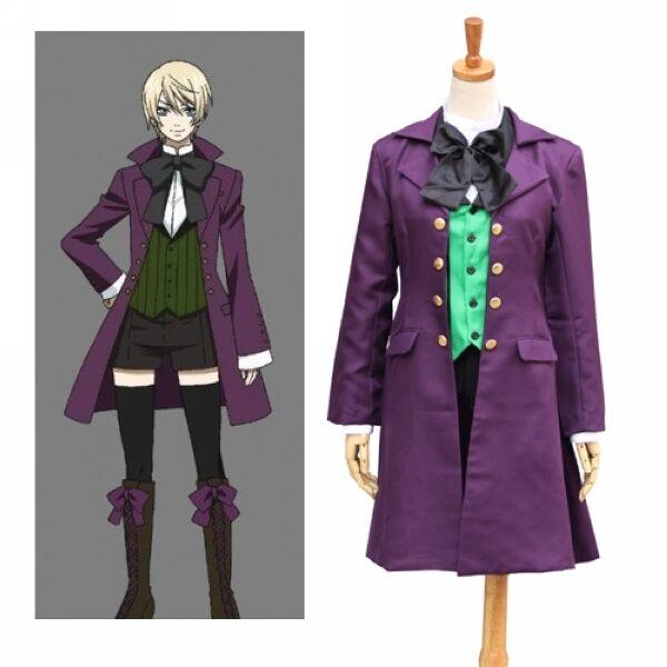 Black Butler II 2 Alois Trancy Cosplay Costume jacket vest shirt bowknot pants
