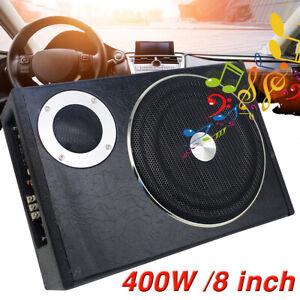 8-039-039-Car-Subwoofer-Active-Power-Amplifier-Kits-Slim-Enclosure-Bass-Speaker-AMP