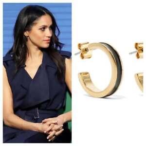 cbbda6c498 Image is loading ISABEL-MARANT-Enameled-gold-tone-hoop-earrings-NWT-