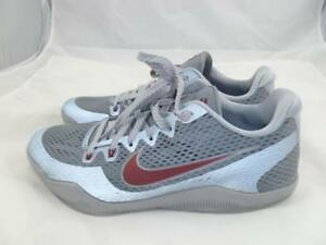 30e85aa357b NIKE KOBE XI USED 11 LOWER MARION ACES GREY TEAM RED BRYANT SNEAKERS ...