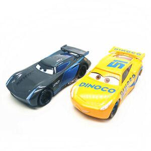 Disney-Pixar-Cars-Lote-2-Jackson-Storm-amp-Dinoco-Cruz-Ramirez-1-55-Diecast-Sin-Caja