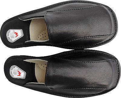 Hausschuhe - Latschen - Pantoffeln Gr.41, Echt LEDER, (Made in Poland 4-11-4-79)
